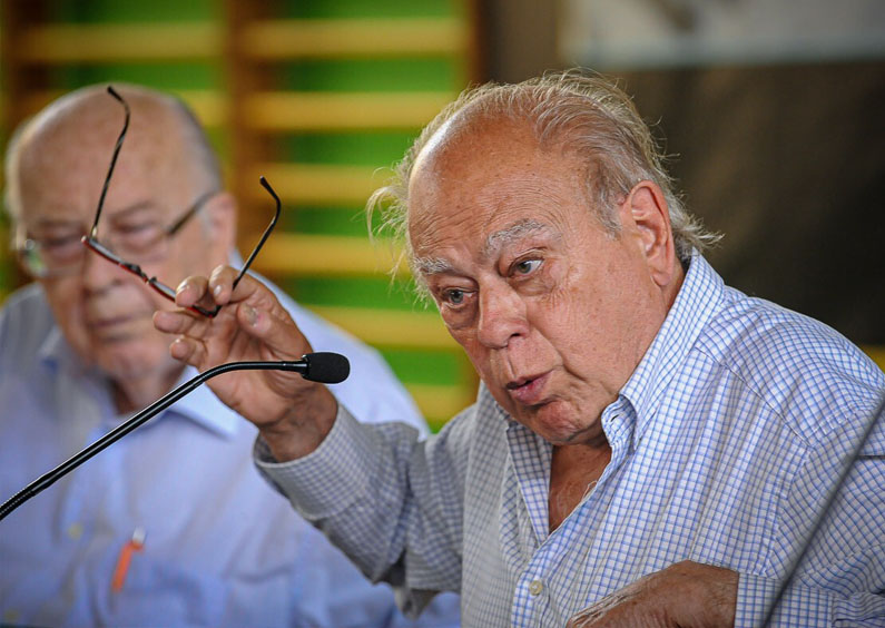 Els pujolistes feliciten l'expresident pel seu norantè aniversari